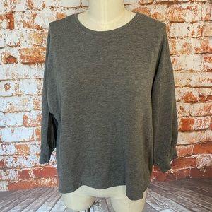 Velvet Graham & Spencer Sarah sweatshirt gray 3/4